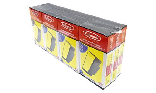 Fullmark N636BK Nylon Printer Ribbon compatible replacement for Epson ERC30 / 34/38, black, 12-pack