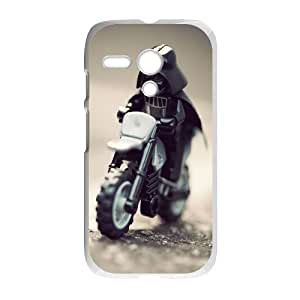 Darth Vader On A Motorcycle Funny Motorola G Cell Phone Case White Customized Toy pxf005_9705084