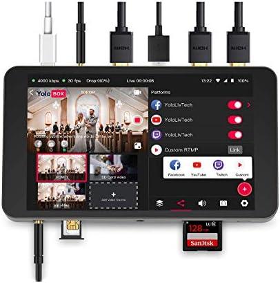 YoloLiv YoloBox Portable Multi-Camera Live Streaming Studio Device Encoder Switcher Recorder Monitor 4 in 1 Equipment