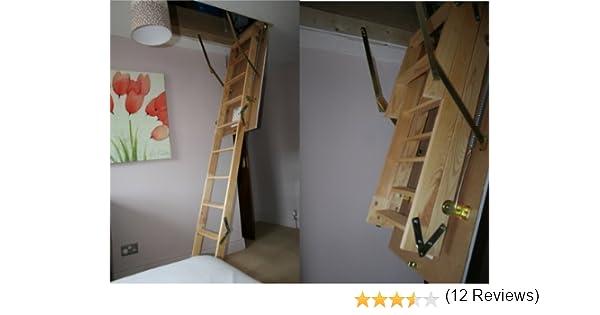 De madera térmica escalera para desván MASTER 110 x 55 ático o escalera incl. Trampilla: Amazon.es: Bricolaje y herramientas