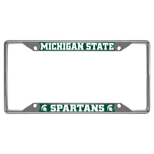 Fanmats 14865 Ncaa Michigan State University Spartans Chrome License Plate Frame