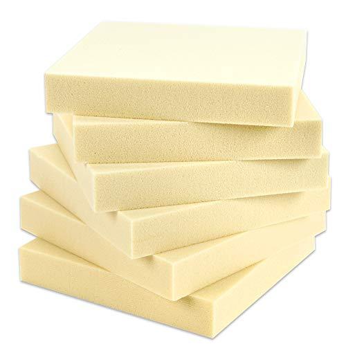 Sculpture Foam Block - 6 Square Foam Bricks - Craft Foam Blocks for Sculpture, Modeling, DIY Arts and Crafts - Beige, 6 x 6 x 1 inches from Art Zone