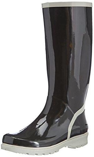 Boots Por Schwarz Black De 796 Negro Playshoes Wellington Noir Mujer schwarz grau Casa Zapatillas Caucho Wellies Estar 7wqYxEI