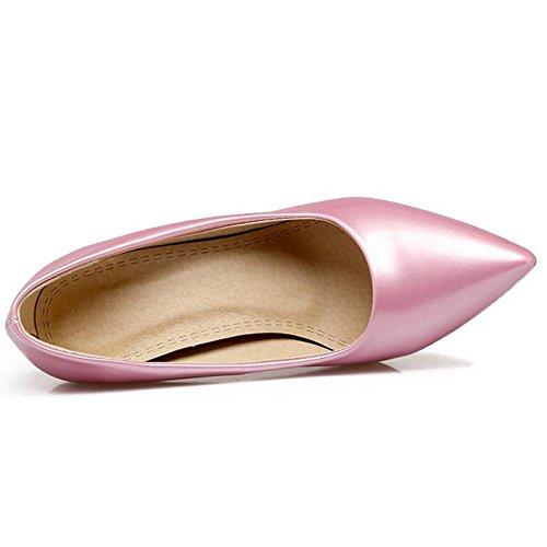Coolcept Women Solid Slip On Stiletto Pumps Pink 88ewmZ