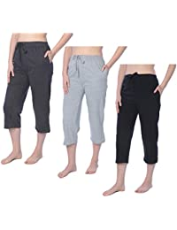 1680f98ee40 Women s Capri Jersey Knit Pajama Lounge Pant Available in Plus Size