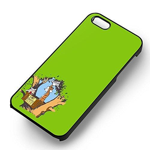 Calvin et Hobbes Green pour Coque Iphone 6 et Coque Iphone 6s Case (Noir Boîtier en plastique dur) U7O4PN