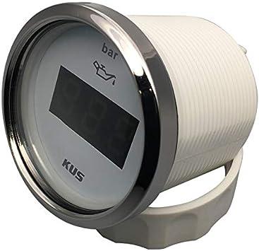 KUS Wasserdicht Digital /Öl Kraftstoff Druck Messger/ät 0-10bar mit Hintergrundbeleuchtung 12V//24V 52mm