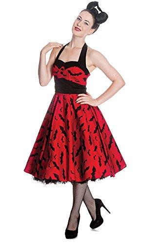 Kleid BAT Jahr 50 Kleid Gothic rot Pin Up mit der Glatze Maus ...