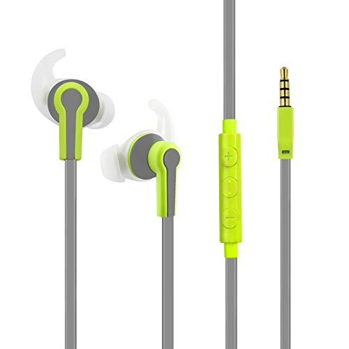 Otium Wired Earbuds Lightweight with Mic and Volume Control Sports In-Ear Headphones