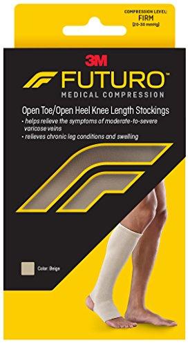 Futuro Open Toe Knee Stockings, Beige, 71050othen, Large (Toe Stockings Firm Open)