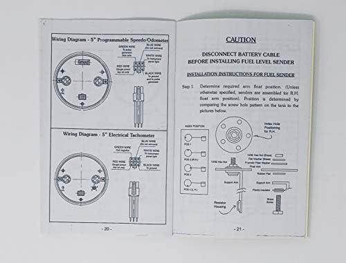 Dolphin Gauges Compatible with 1953 1964 1955 Ford Truck 6 Gauge GPS Dash Cluster Panel Set Black