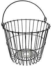 Homeford Metal Wire Pail, Gray, 11-Inch