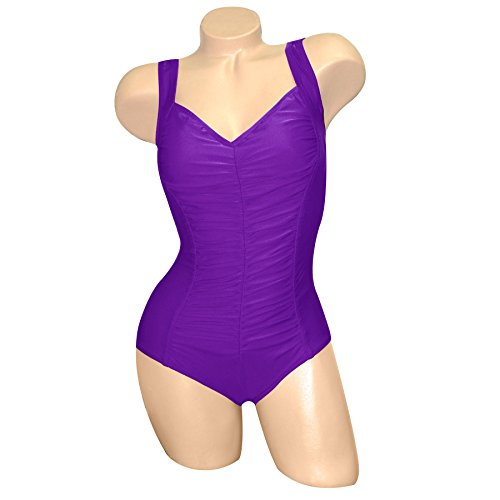 Bra Wior Carol (Carol Wior Shirred Front Hourglass Swimsuit with Control A110 (Size 10))