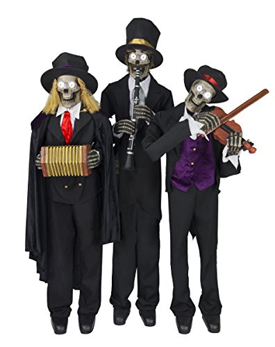 Spirit Halloween 3.75 Ft Janglin' Bones Trio Animatronics – Decorations ()