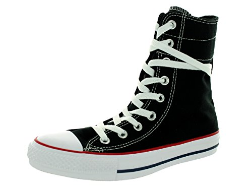 Boot Converse Canvas - Converse Women's Chuck Taylor Hi-Rise XHI Black/White Casual Shoe (6.5 Women US, Hi-Rise XHI Black/White)