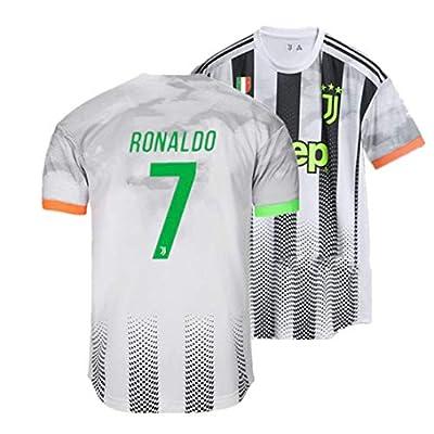 RNLDJS Special Edition Juventus 7 Ronaldo Jersey Home Soccer Jersey for Mens Black/Grey