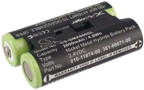 Rechargeable battery for Garmin 010-01550-00 2000mAh Ni-MH