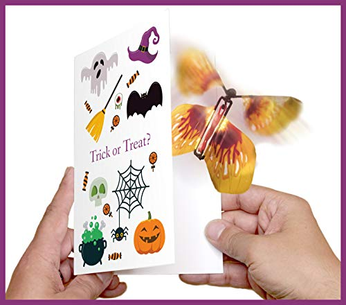 Magic Butterfly Halloween Greeting Card by wahoocards | Trick or Treat | Funny Halloween Card for $<!--$9.95-->