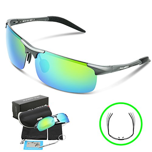 Gray Polarized Lens Sunglasses - 7