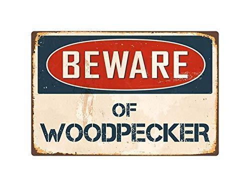 (Beware Wolverine Decorative Metal Sign for Road Tin Art Decor Aluminum Tin Sign)