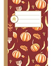 Warm Autumn Leaves and Pumpkin: Vintage Fall Notebook