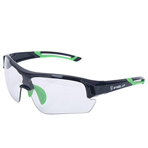 T-best Unisex Photochromic Sunglasses,Windproof UV Protection Bike Glasses Photochromic Safety Glasses Polarized for Outdoor Sport Mountain Cycling Motocycle Driving Hiking Fishing (Green)