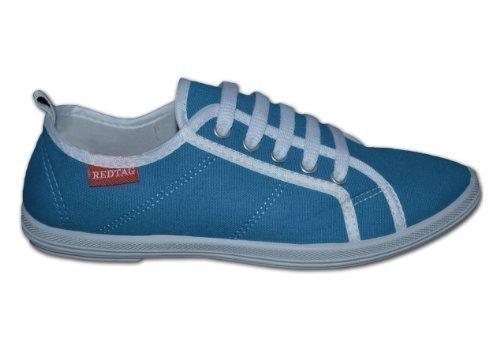 Red Tag , Chaussures de ville à lacets pour fille - Bleu - Aqua blue, 7 UK