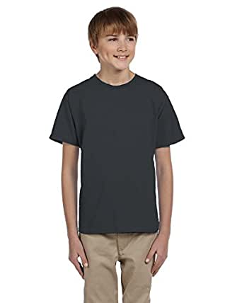 Fruit of the Loom Youth 5 oz.; 100% Heavy Cotton HD� T-Shirt - BLACK HEATHER - XS
