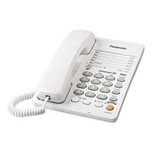 Panasonic KX-TS105W Corded Phone, White