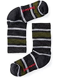 Kids' Striped Hike Light Crew (Charcoal) Small
