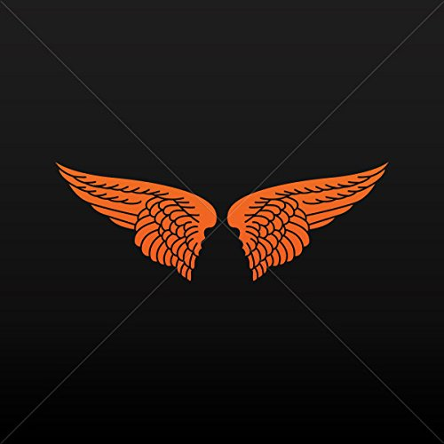 [Decal Pair Of Wings Decoration Motorbike Bicycle Vehicle ATV Orange (4 X 2.95 Inches)] (Fairy Wing Tattoos)