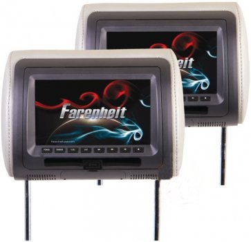 Lcd Package - Farenheit HRD-72CCP Universal Headrest Package w/ DVD Player & 7inch LCD Screen
