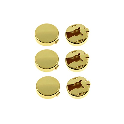 Ms.Iconic 15MM Gold Tone Round Cuff Button Cover Cuff Links for Wedding Formal Shirt 6Pcs/Set (Covers Mens Button Shirt Dress)