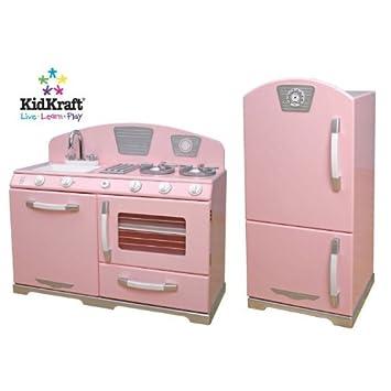 KIDKRAFT PINK RETRO KITCHEN SET: Amazon.co.uk: Toys & Games