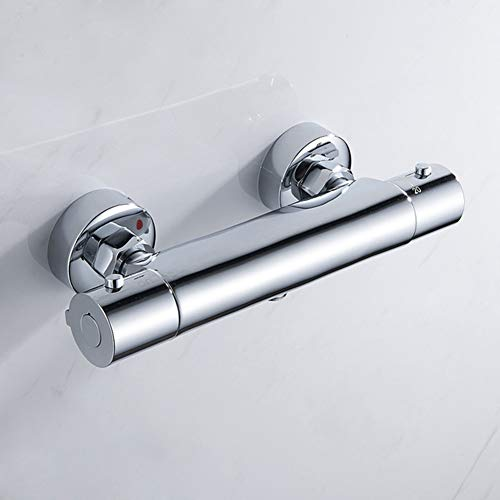 JIANGJIE Bathroom Shower Faucet Set Waterfall Shower Faucets Thermostatic Mixing Valve Thermostatic Shower Mixer