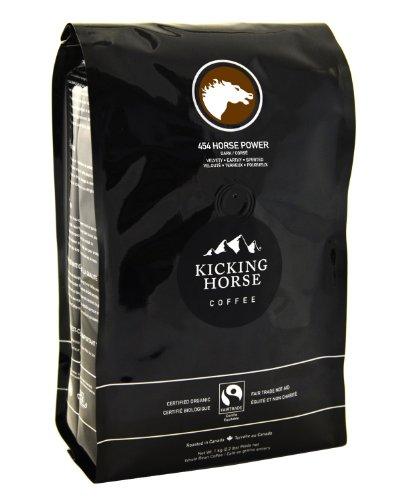 Kicking Horse Coffee, 454 Horse Power, Dark Roast, Whole Bean, 2.2 Pound