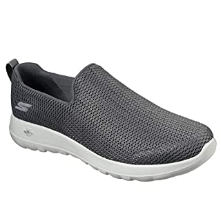 Skechers mens Go Walk Max-Athletic Air Mesh Slip on Walking Shoe,Charcoal,7.5 M US