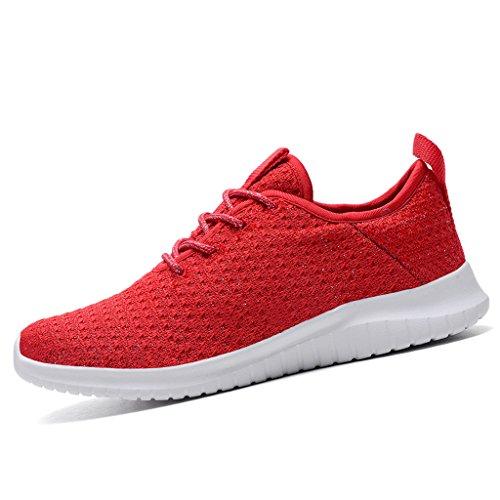 ZanYeing Damen Atmungsaktives Mesh Gym Fitnessschuhe Turnschuhe Freizeitschuhe Ultra-Light Sportschuhe Straßenlaufschuhe fur Mädchen 35-42 Rot