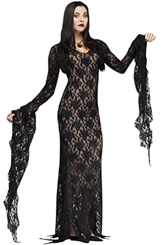 [8eighteen Miss Darkness Gothic Elvira Outfit Women Adult Costume] (Elvira Plus Size Costumes)