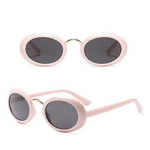 Mode Rétro soleil Classique Gris Fuyingda Unisexe Lunettes Kaki Ovale Femme Lunettes de Homme x4wwFqtE