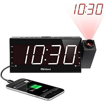 Amazon Com Zuwit Remote Control Projection Wall Clock