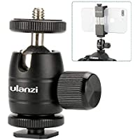 "Ulanzi U-30s Mini Ball Head,360 Degree Rotating Swivel Tripod Head with 1/4"" Thread Base Mount for DSLR Camera Canon,Nikon,Sony/Camcorder/iPhone 8 7 Plus Gopro"