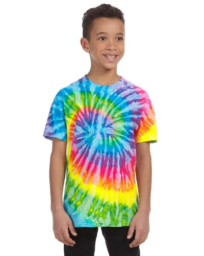 (Tie-Dyed Tie-Dye Youth 5.4 Oz, 100% Cotton T-Shirt, XS, Saturn)