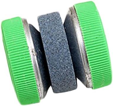 Kentop 1pieza afilar piedra de afilar de redonda de piedra de afilar y material plástico 4* 4cm