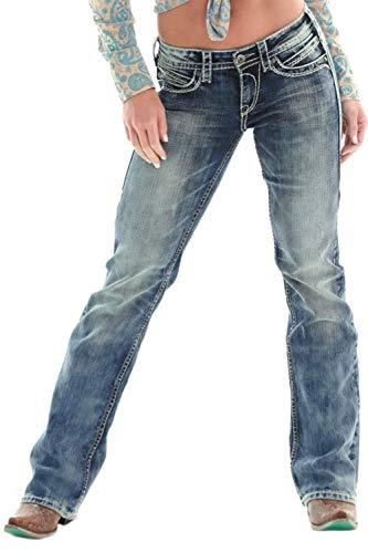 Jeans Angosciato Tratto Jeans Zonsaoja Lavare Donne Blu Per nqtzXxwxU8