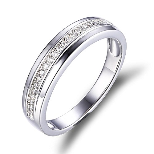 Jewelrypalace Womens Cubic Zirconia Anniversary Ring Wedding Band 925 Sterling Silver Size 7