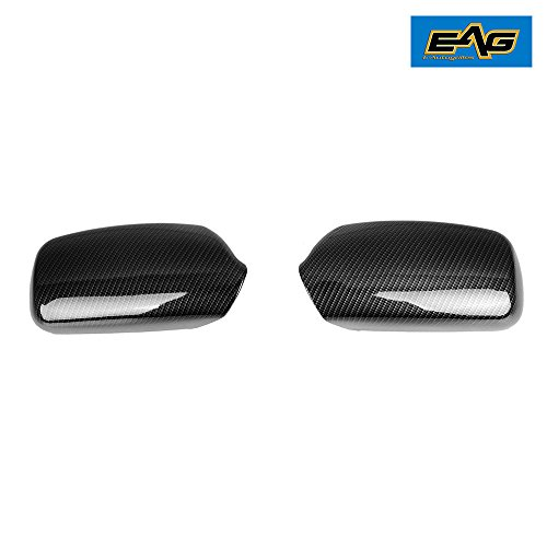 - EAG 07-11 Toyota Camry Mirror Cover Black Carbon Fiber Look ABS