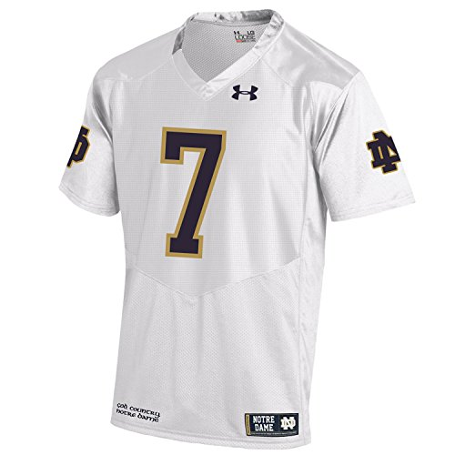 Under Armour NCAA Notre Dame Fighting Irish Youth Sideline Replica Jersey, Large, White