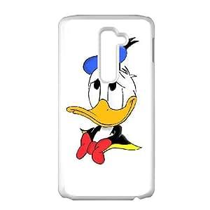LG G2 White phone case Donald Duck YVD8915504