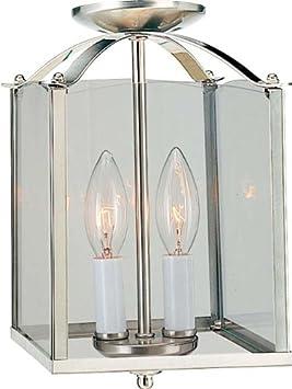 Volume Lighting V5002-33 2-Light Pendant or Semi-Flush Ceiling Mount, Brushed Nickel